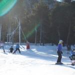 Arnau esquiando con el Dual esqui