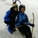 Carlos y Alexia en la pista de Hielo