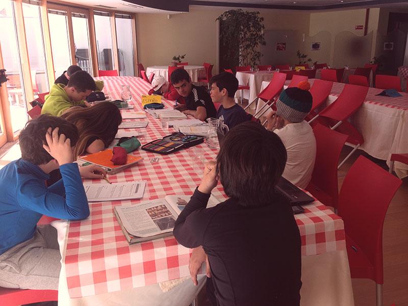 Horario de estudio en el Europena Para Snow Youth Circuit