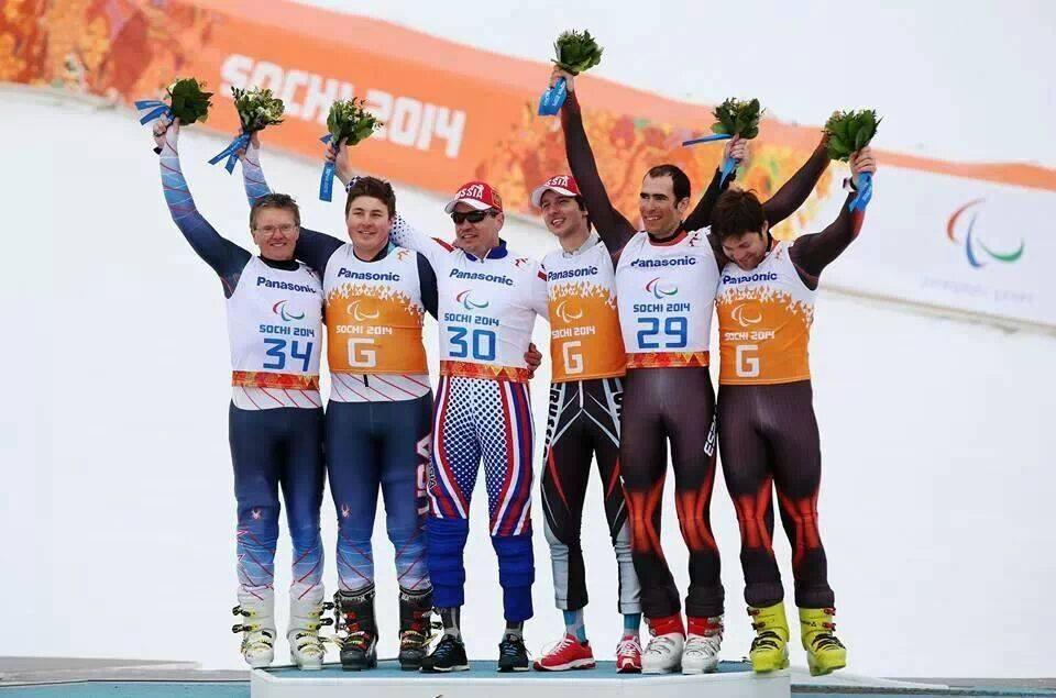 Grabiel Garce en el podium de Sochi