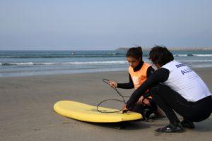 Calentamiento surf adaptado