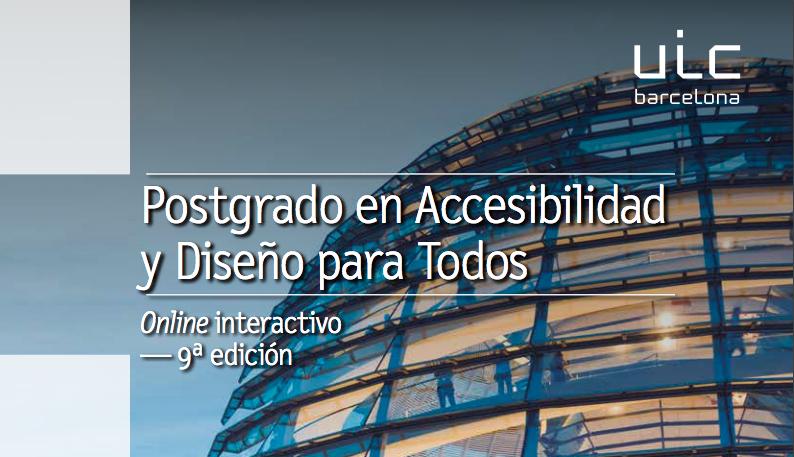 Postgrado en Accesibilidad y Diseño para Todos