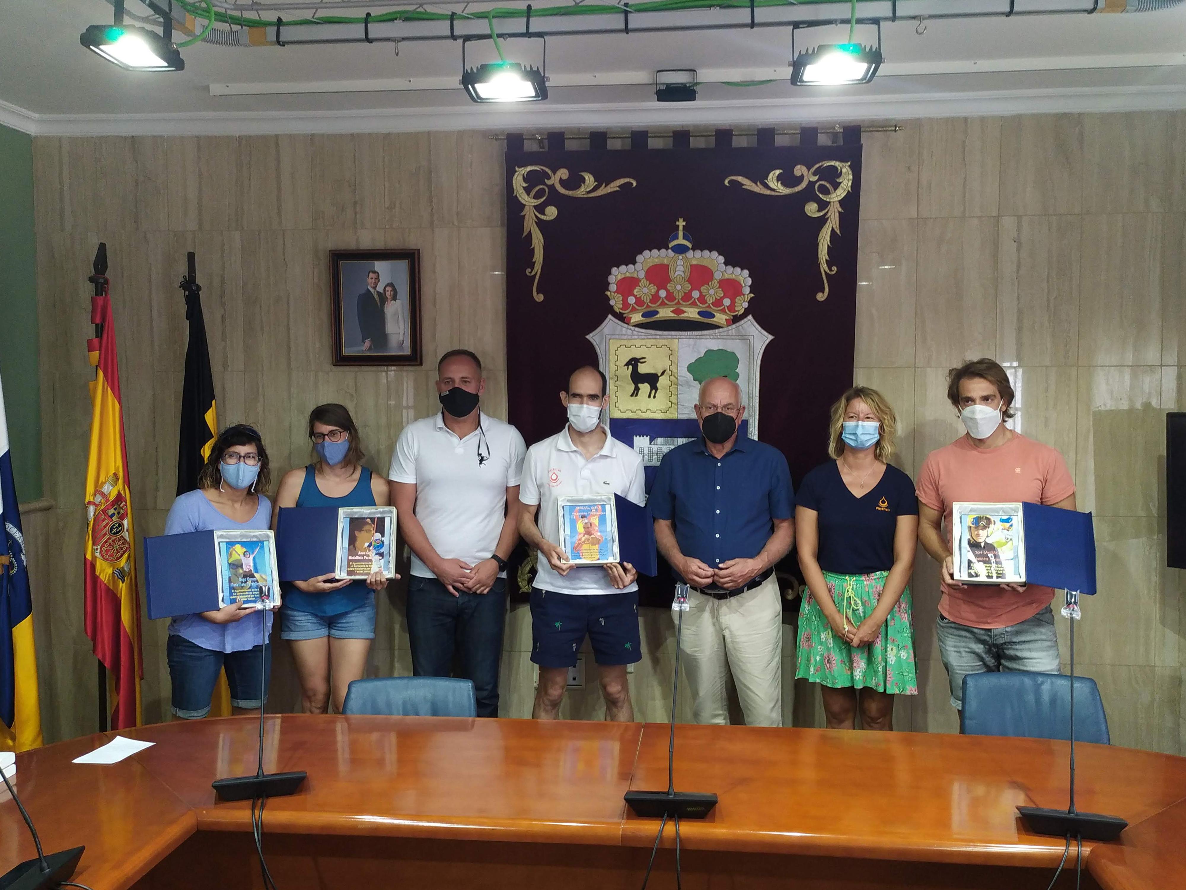 Recepción de atletas Paralímpicos en La Oliva