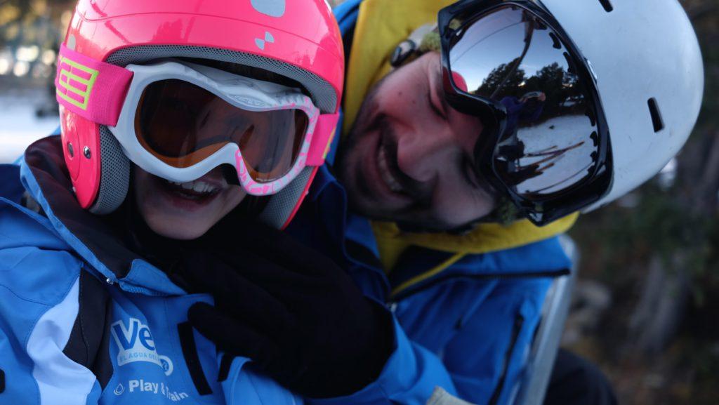 Esquí adaptado para niños con SAF