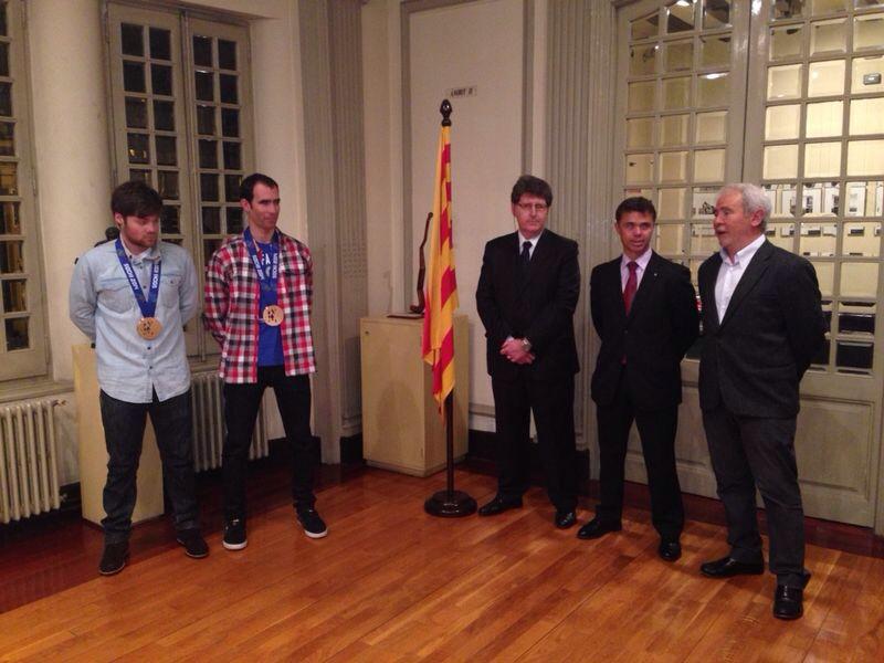 Gabriel Goce y Arnau Ferrer con la federación Catalana de deportes de invierno