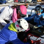 Arnau preparandose para el esqui