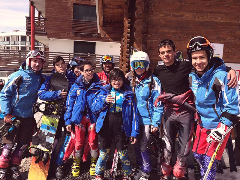 Entrenamientos de esquí en Sestriere