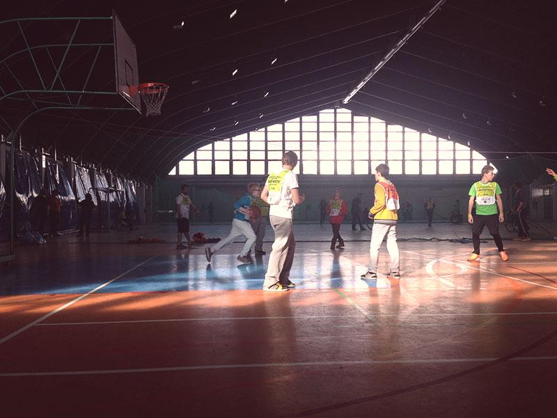 Baloncesto en las actividades de la tarde