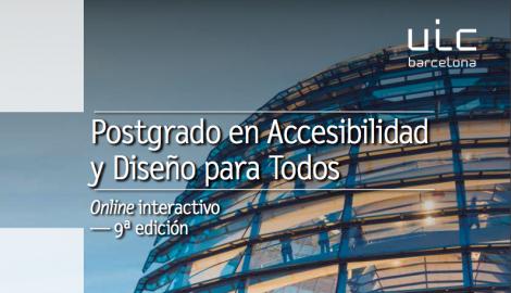 Portada de la 9a edición del Postgrado en Accesibilidad y Diseño para Todos